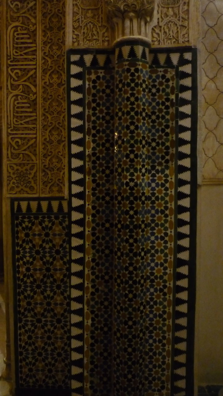 pattern, backgrounds, indoors, architecture, no people, close-up, day