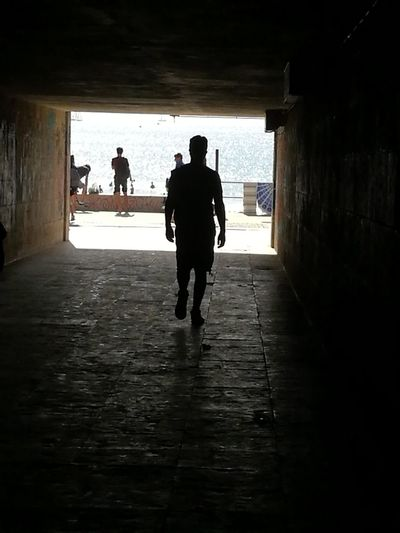 Silhouette Full Length Adult Tunnel Adults Only Sea View Landscape EyEmNewHere Cityscape Second Acts Going To The Beach October2017 Carcavelos Perspectives On Nature EyeEmNewHere Go Higher