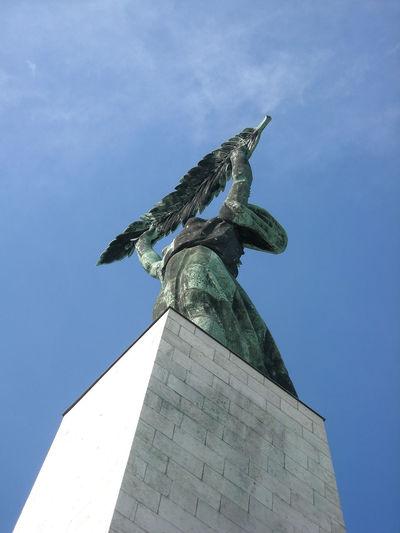 Soviet Art Monument Budapest, Hungary Freedom Statue Palm Leaf Liberty Statue Budapest Gellerthill