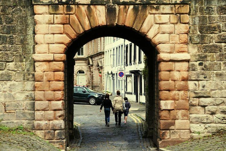 Berwick Brick Wall Outdoors Berwick-upon-tweed. Tweedmouth River Tweed Ramparts