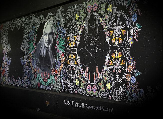 Streetpainting Toronto Art And Craft Creativity Graffiti Multi Colored No People Streetart