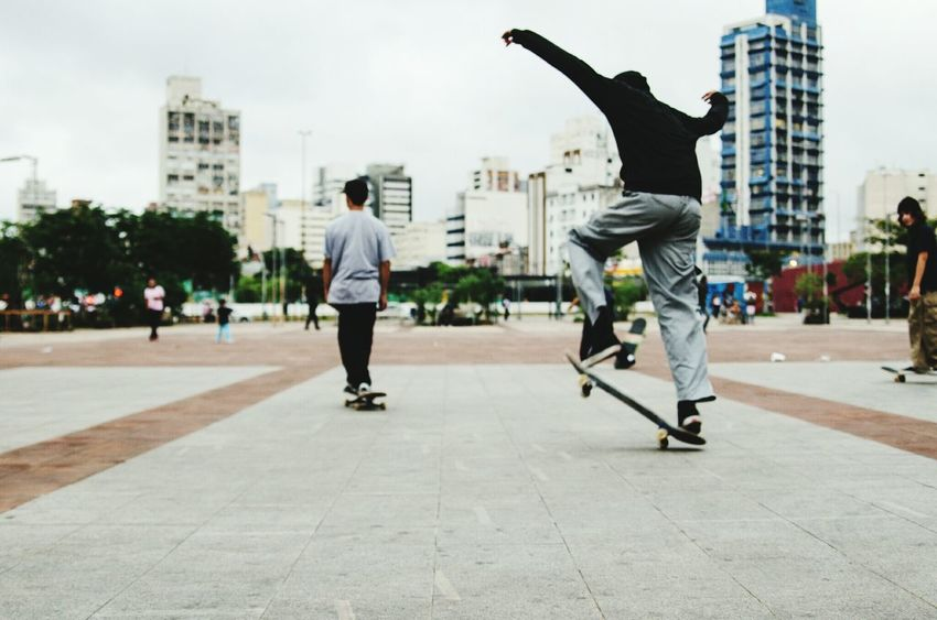 City Life Full Length City Skateboard Motion Casual Clothing Only Men Lifestyles Outdoors Adult Balance Skill  Cool Attitude Men Skateboard Park RISK Stunt Day Two People Leisure Activity The Secret Spaces
