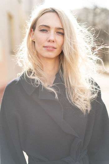 International Women's Day 2019 Hair Portrait One Person Blond Hair Young Adult Long Hair Front View Golden Hour Pretty Woman Elégance Hood - Clothing Leisure Activity Lifestyles Fashion Model Real People Sunny Day Warm Clothing Beautiful Woman Young Women Hairstyle Waist Up Street Fashion Windy