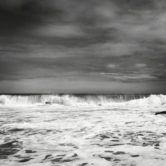 Sky Blackandwhite Nouvellecaledonie Pacific Ocean Nature Wave Water Sea Beach Low Tide Storm Cloud Tide Sunset Dramatic Sky Seascape Atmospheric Mood