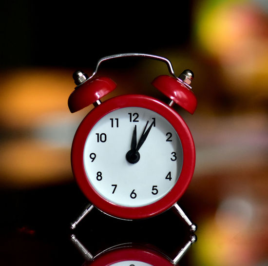 Alarm Clock Time Clock Number Deadline Red Close-up Focus On Foreground Clock Face No People Clock Hand Urgency Minute Hand Night Indoors  Hour Hand Accuracy Single Object Still Life Checking The Time