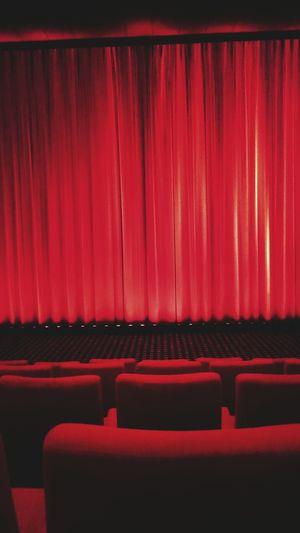 Cinema Red Curtain