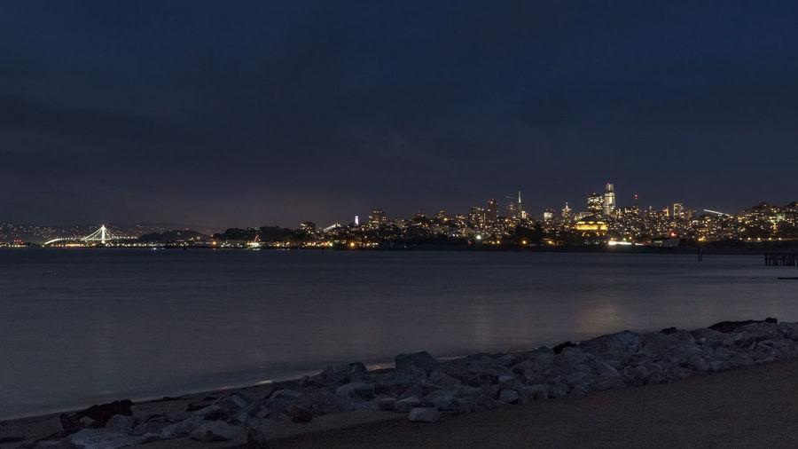 Skyline Architecture City Cityscape Horizon Illuminated Night No People Outdoors Sky Travel Destinations Water