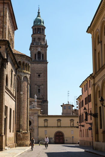 Parma, Italy Parma Emiliaromagna Italy Italia Building Exterior Architecture Built Structure Building City Place Of Worship Religion Spirituality Sky Belief Day History Real People Incidental People The Past Tower Outdoors Clock