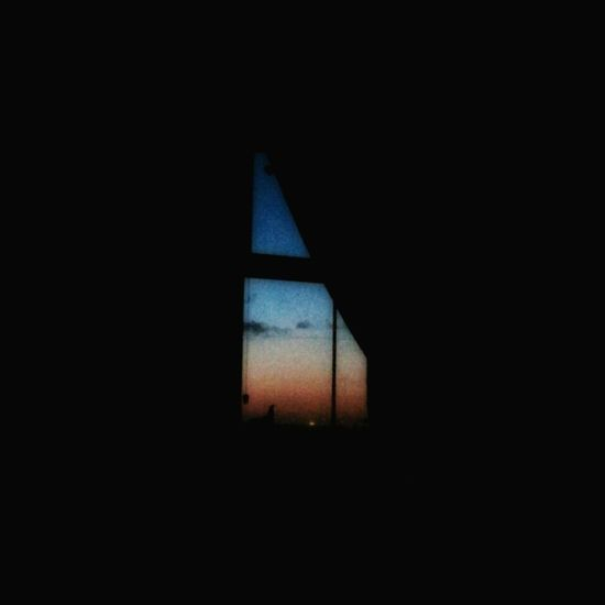 Sunset from the sofa