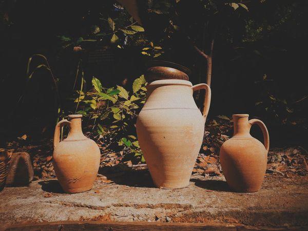 Arkeoloji Aydınarkeolojimüzesi #esrabolkan #eyem #photography Earthenware Clay Jar Sunlight Close-up Plant Terracotta Pottery Pour Spout Decorative Urn Milk Jug Sculptor Molding A Shape Flower Pot