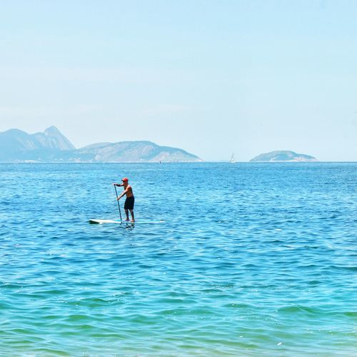 Water Paddleboarding One Person Adventure Nature Blue Day Adult The Great Outdoors - 2017 EyeEm Awards Rio De Janeiro Rio Brasil Brazil Beach Guanabara Investing In Quality Of Life My Best Travel Photo
