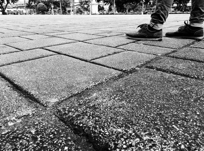 Low Section Outdoors Lifestyles Day Cebu Cebu City Pavement Urban Geometry Monochrome Monochrome Photography Eyeem Philippines