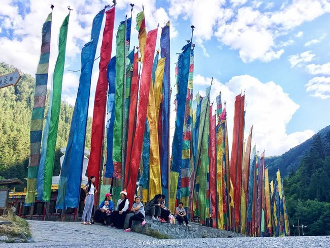 Zangzu Nation Sky Cloud - Sky Day Multi Colored Outdoors Real People Mountain Nature Chinese Nature China Photos China Nation Prayer Flags