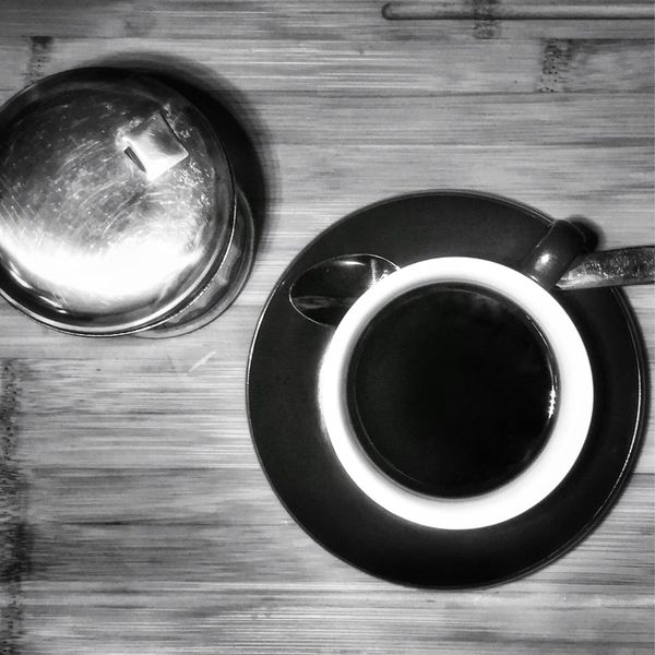 Drink Food And Drink Refreshment Coffee Cup Table Coffee - Drink Freshness Sugar Spoon Indoors  No People Close-up Day Black And White Friday