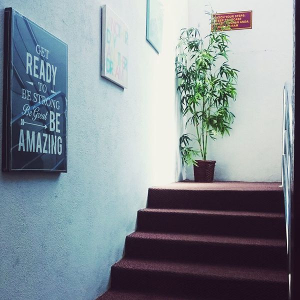 Just a secret corner, enjoy the moments.Staircase Steps Blackboard  Built Structure