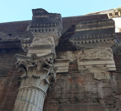 Roman Architecture Rome Ancient Civilization Travel Old Ruin No People Roman Pantheon Temple Architecture Temple Column Columns And Pillars Stone Material Stone Carving Monuments Of The World Monumental Buildings