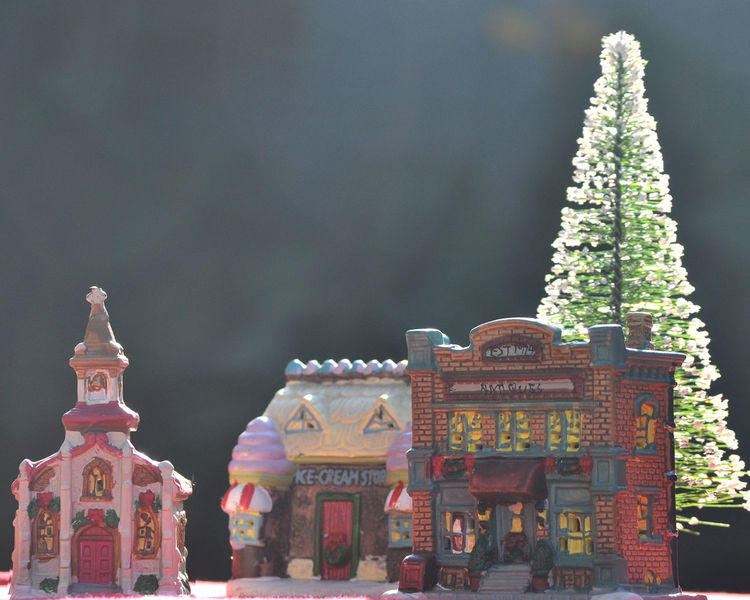 Merry Christmas Back-lit Photography Christmas Town Christmas Village Merry Christmas! Architecture Building Exterior Built Structure Day No People Outdoors Place Of Worship Religion Sculpture Sky Spirituality Statue Travel Destinations Tree