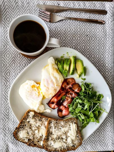 Breakfast Avocado Breakfast Morning Morning Rituals Morning Coffee Plate Breakfast Cucumber Mexican Food Close-up Food And Drink Fried Egg Served Prepared Food English Breakfast Continental Breakfast Scrambled Eggs Bacon Toast Comfort Food Serving Size