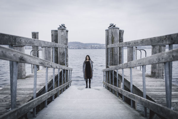 Bodensee Bridge Cloudy Girl Horizon Over Water Lake Lifestyles Nature One Person Outdoors Pier Railing Sea See Sky Standing Steg Vitality Water Web Woman Woman Standing Fresh On Market 2016