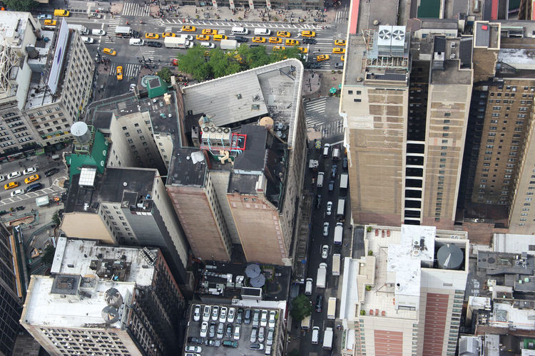 high angle view of New York skyscrapers City City Street Cityscape Taxi Travel Bird Building Exterior City View  Cityscapes Complexity Computer Part Day Electronics Industry Factory High Angle View Indoors  Industry Metropolis Mother Board No People Recycling Center Skyscraper Street Technology Travel Destinations