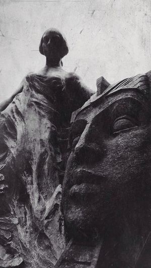 Blackandwhite Mextures Sculpture Cemetery