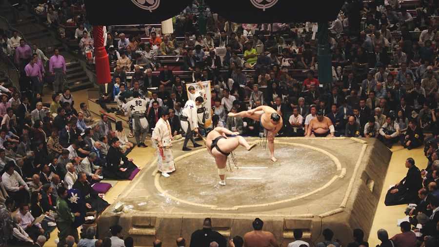 [ Rituals ] Sumotori pre-match ritual. I don't know .. It's all about weight and strengh in this sport but however those fighters are so elegant and gracious in their preparation. Incredible thing to see and live in your Japan trip. Ryogoku Ryogokukokugikan Ultimate Japan Tokyo Japanese  Culture Japanese Culture Sumo Traditional Culture ASIA Asian Culture Wanderlust Showcase June Wrestling Tournament Wrestling Fight Tradition Traveling Japanese  Sport Traditional Dance Japan Ritual Battle Of The Cities The Photojournalist - 2017 EyeEm Awards