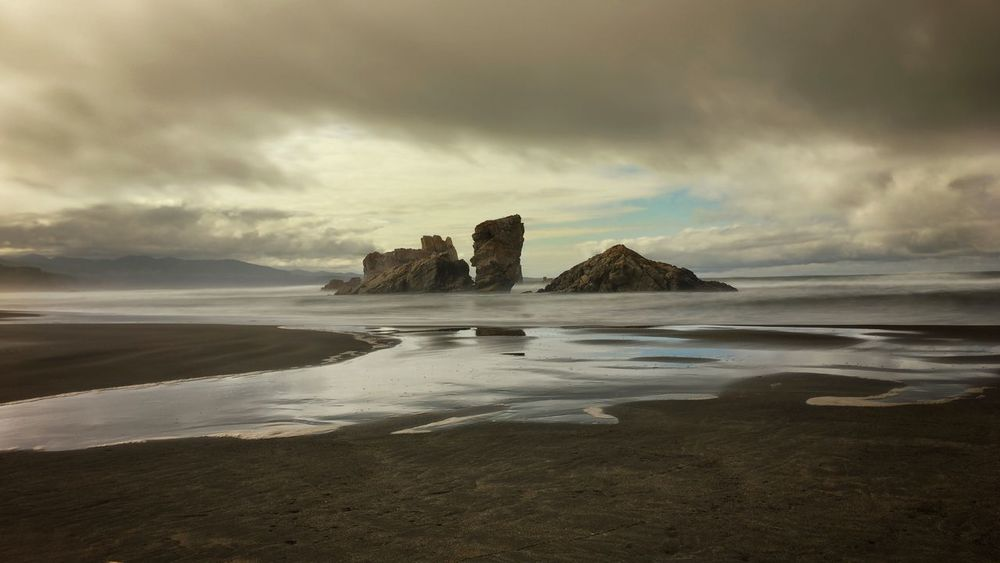 Beauty In Nature Landscape Nature No People Rock - Object Rock Formation Sea Sky Tranquility Water