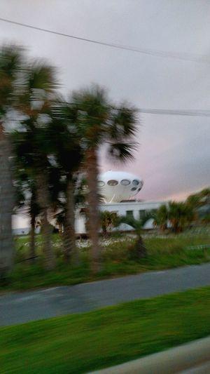 Spaceship House Picture Blurry on Pensacola Beach Santa Rosa Island Florida United States
