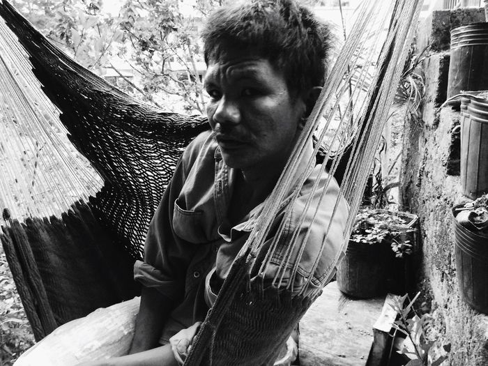 B&W Portrait People Eyeem Philippines Snapshots Of Life Share Your Adventure The Photojournalist - 2015 EyeEm Awards Helping Refugees Untold Stories A local from the mountains of Sagada, taking a break. Capture The Moment People And Places Portrait