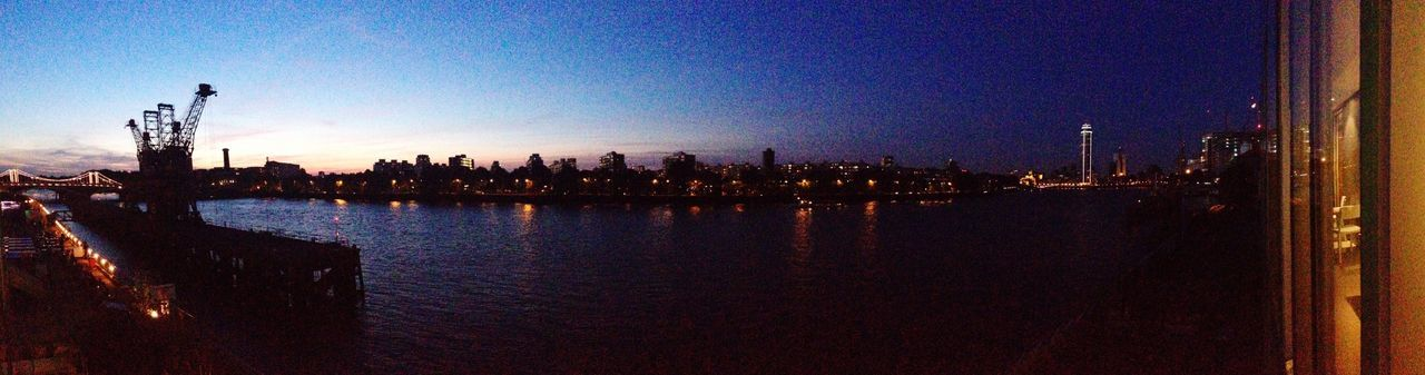 River Thames Panorama London Nightphotography
