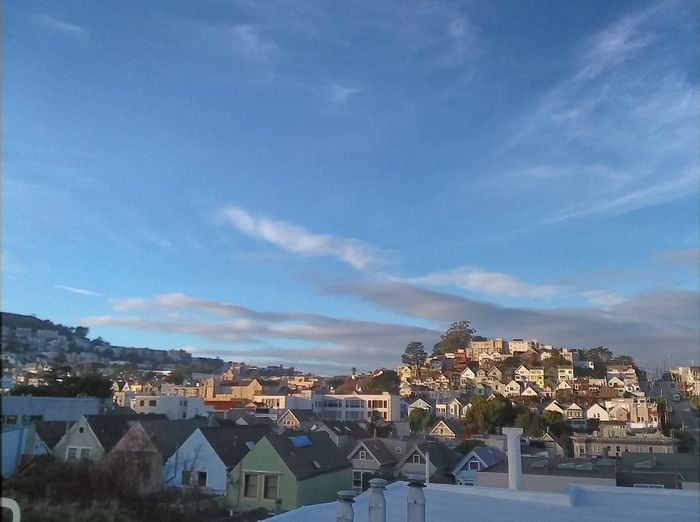 Houses Neighborhoods Noe Valley No Edit Sunset Sky Architecture Multi Colored Outdoors