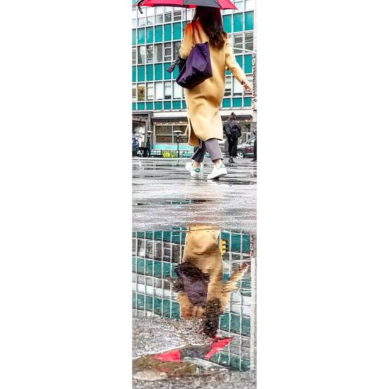 One Person People City Real People Outdoors Day Rainy Day Reflections Reflection In The Water