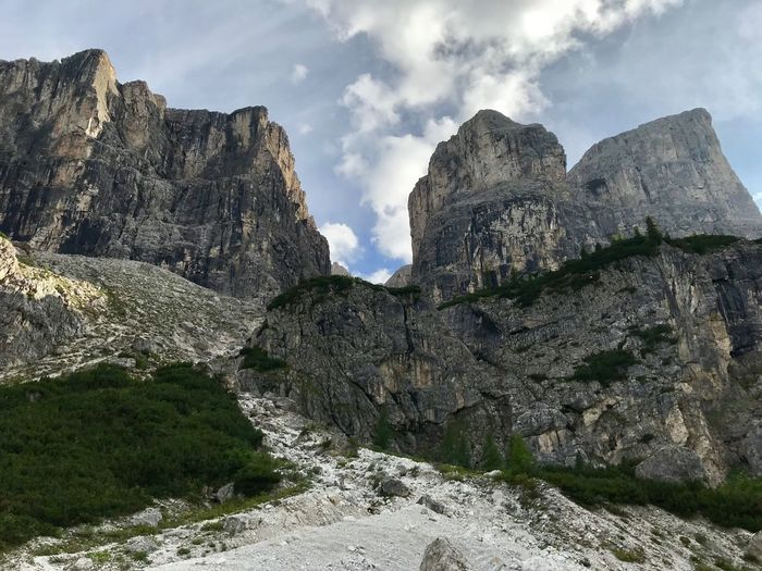 Dolomites, Italy Rock Sky Mountain Cloud - Sky Rock - Object Beauty In Nature Rock Formation Nature Scenics - Nature Solid Day Tranquil Scene No People Tranquility Landscape Mountain Range Non-urban Scene Formation