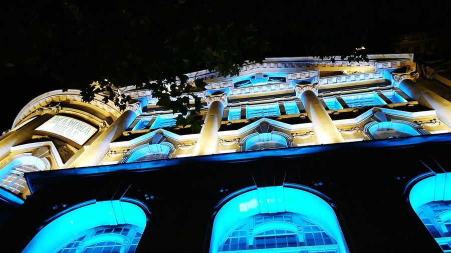 Outdoors Architecture Building Exterior Illuminated Low Angle View Night Façade No People Theatre Novello Theatre London Mamma Mia The Week On EyeEm Postcode Postcards An Eye For Travel The Graphic City