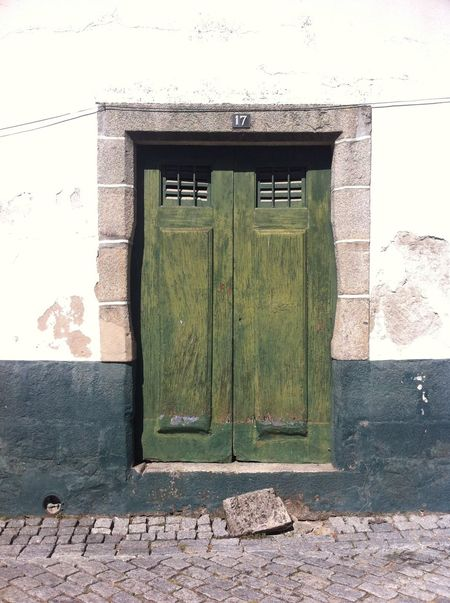 Architecture Closed Day Door Front Door Green Color House No People Residential Structure