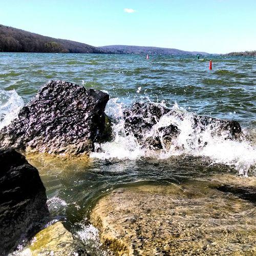 Upstate New York OtiscoLake Nature Waves Crashing Waves And Rocks