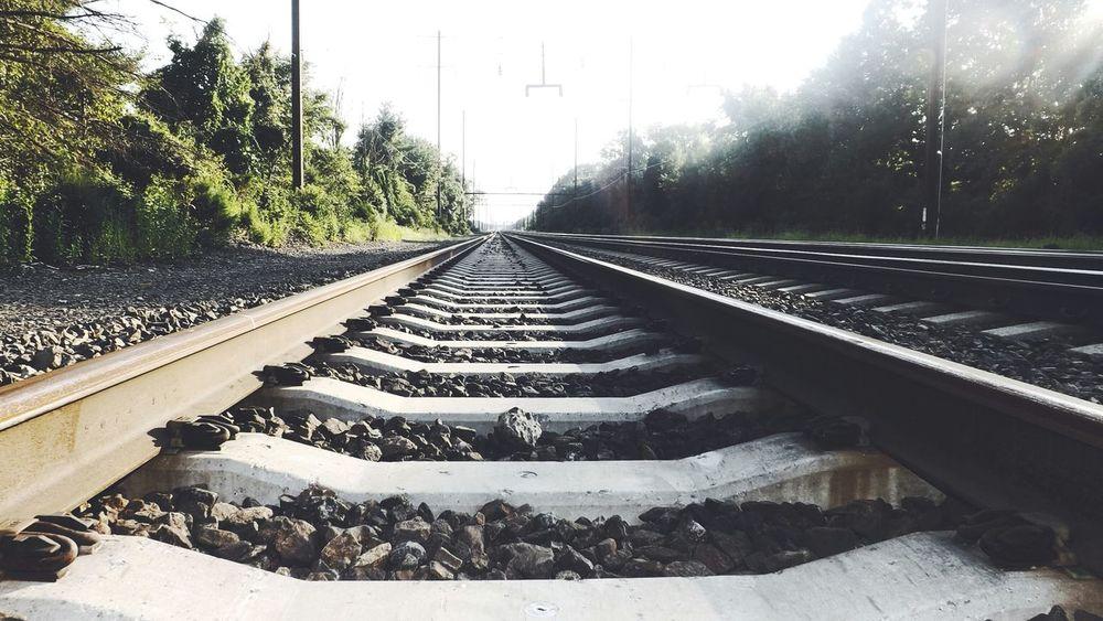 Just follow the tracks... Deceptively Simple Sitram Photo's New Jersey Train Tracks Tracks Railroad Tracks
