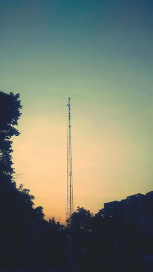 India Chennai Twilight Cellphone Tower Corporate Design Communication Backgrounds Tower Sky Clear Sky Sky Background The Great Outdoors - 2016 EyeEm Awards