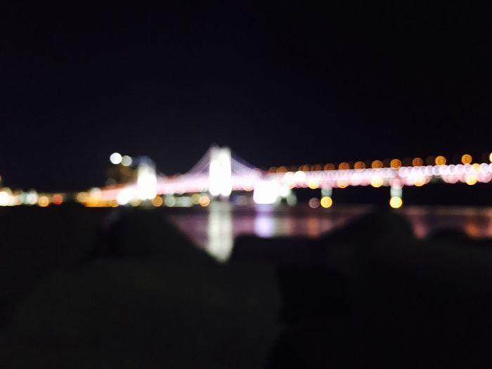 1/13 Wensday Calm Night Bridge View FocusOn Focus Point In Busan South Korea