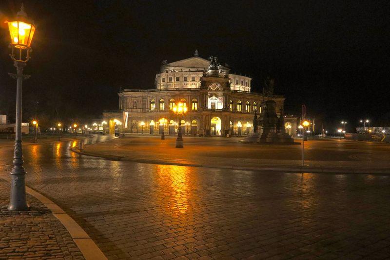 Nightphotography Saxony Operahouse Nightphotography