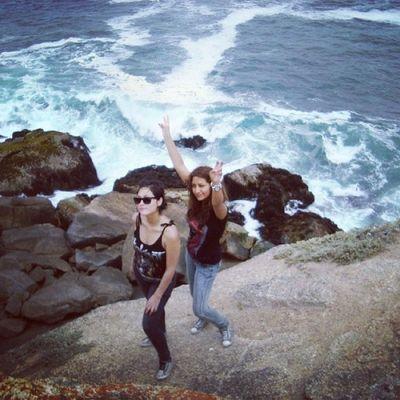 Hermanos Sisters Elquiscochile Instachile Fun hermanas rocas rocks sea mar playa beach