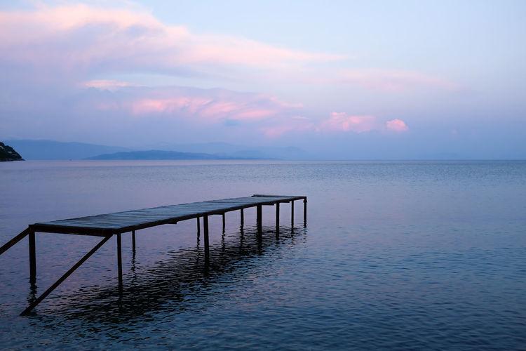 Zen Korfu Corfou Corfu CORFU ISLAND Greece Zen No People Sea Water Beach Horizon Over Water Sunset Landscape Tranquility Summer Nature Relaxation Blue