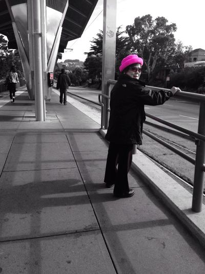 Pretty in pink Taking Photos Public Transportation I'd Totally Rock That! And Today I'm Wearing A Hat