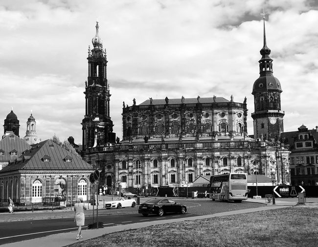 Sternfee Blackandwhite Dresden / Germany Building Exterior Architecture Built Structure Sky Cloud - Sky City Transportation