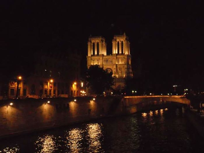 Paris Illuminated Cityscape Night Architecture Travel Destinations Spirituality Reflection Building Exterior Outdoors Ville Lumière France Summer Love Dream Notre Dame Cathedral Notre Dame De Paris EyeEmNewHere France🇫🇷 ParisByNight Lost In The Landscape