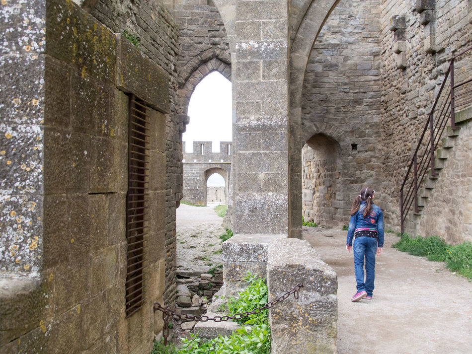 Ancient Architecture Carcassonne Castle Childhood Day France History Stone Wall