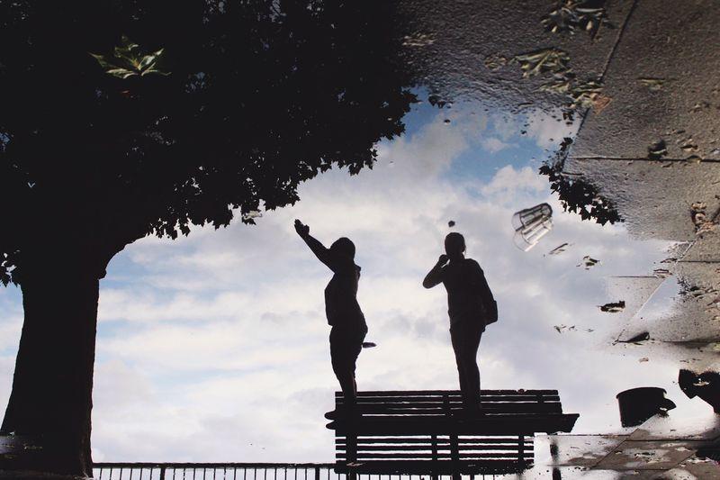 People against sky