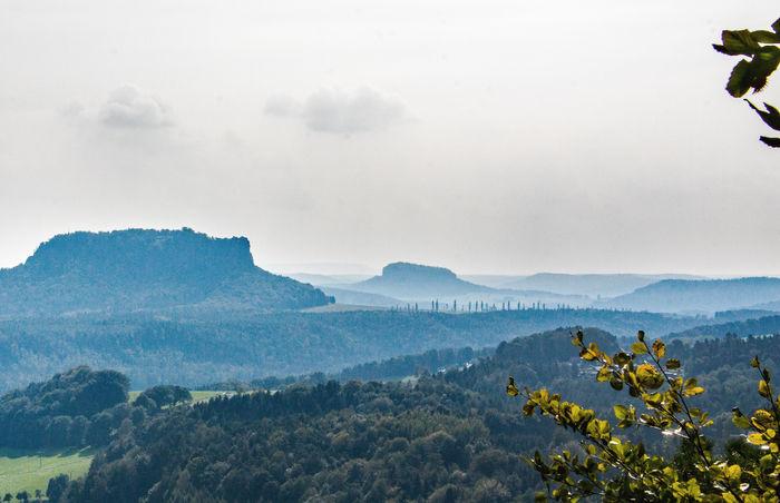Bastei Elbe Elbsandsteingebirge Landscape Nature Panorama Saxony Sky