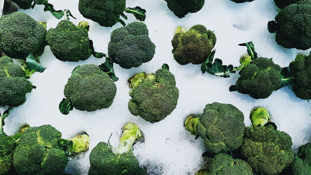 Broccoli Snow Broccoli Vegetables Top View Lost In The Landscape Food Stories