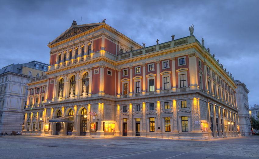 Great hall of wiener musikverein, viennese music association, vienna, austria